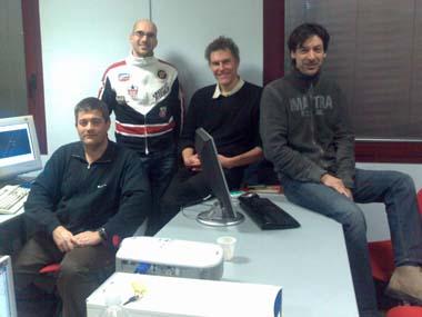 Gianni, Michele, Jeremy and Stefano