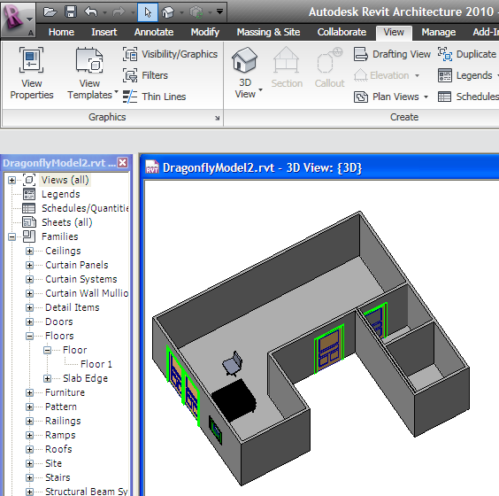 Open the model in Revit