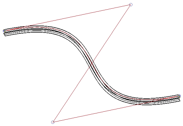 Curved beam in XY plane