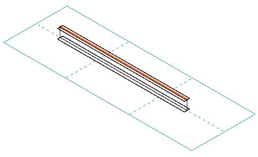 One beam on a work plane grid