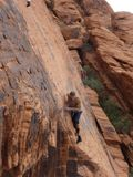Climbing in Red Rock