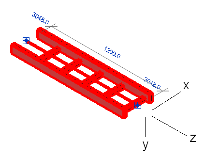 Cable tray connector coordinate system