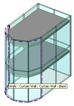 Curtain wall perimeter dashed lines