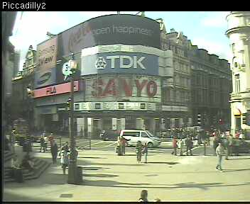 Webcam image of Piccadilly Circus