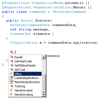 Visual Studio Intellisense lists UIApplication members