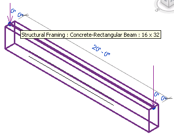 Concrete rectangular beam