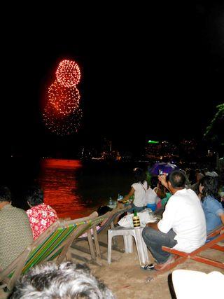Queen's birthday celebration firework competition in Pattaya