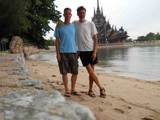 Marcus and Jeremy in front of the Sanctuary of Truth