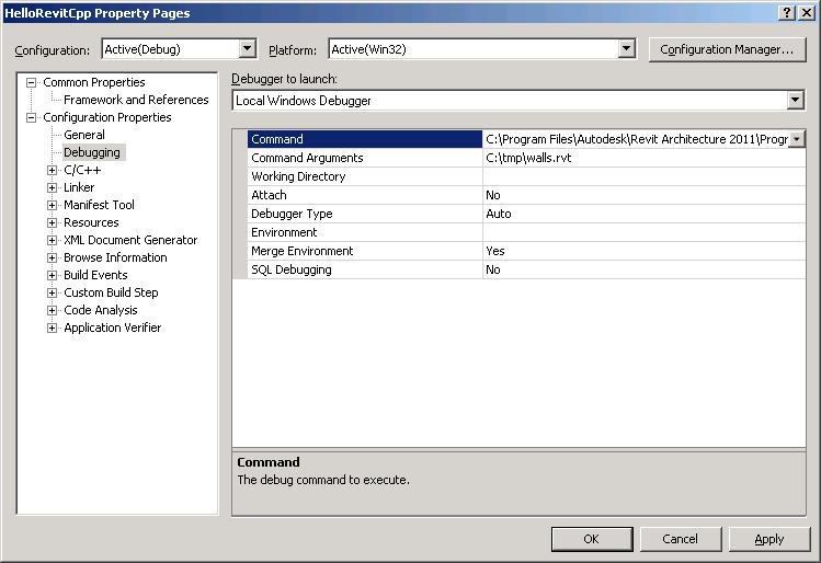 Set up debugging options