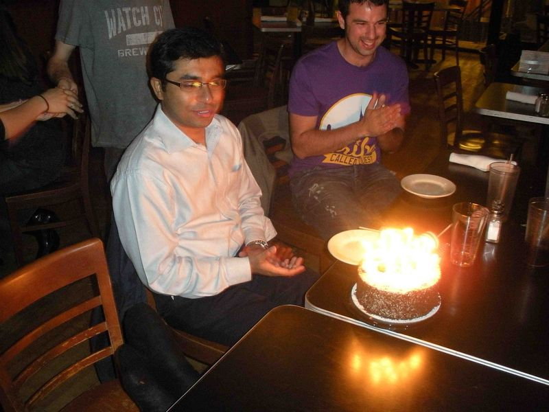 Saikat and his birthday cake