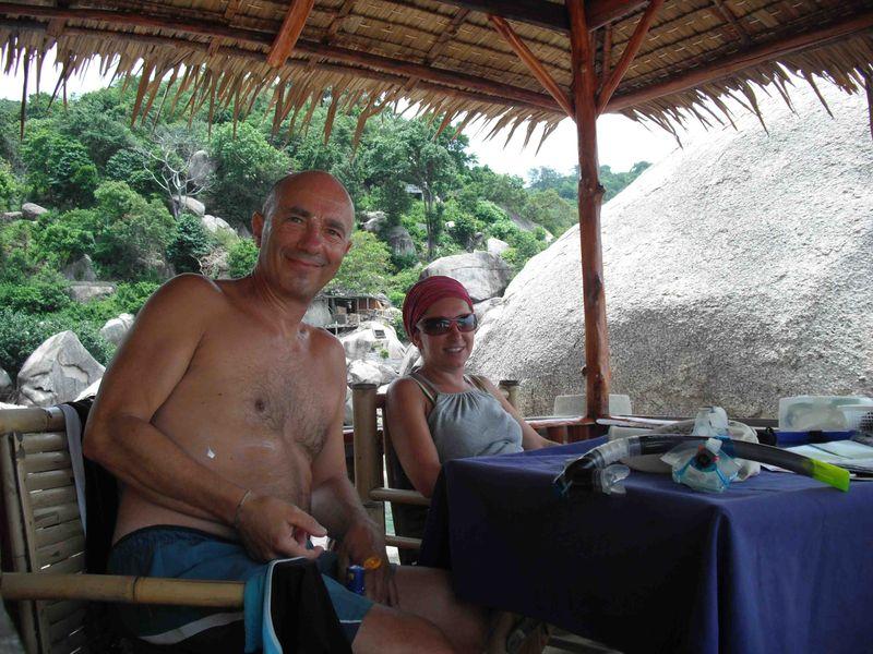 Maurizio and Daniela in Hin Wong Bay