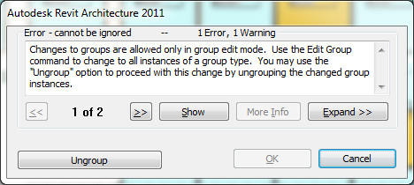Group edit error