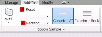 Different icons in Revit ribbon