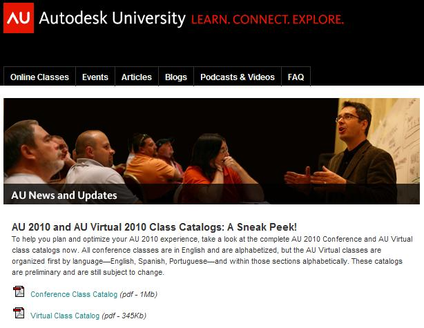 AU 2010 classes