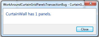 CurtainGrid Panels transaction workaround