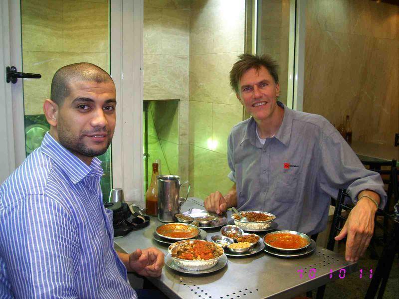 Eating kosheri in Cairo