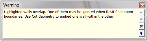 Wall overlap warning message