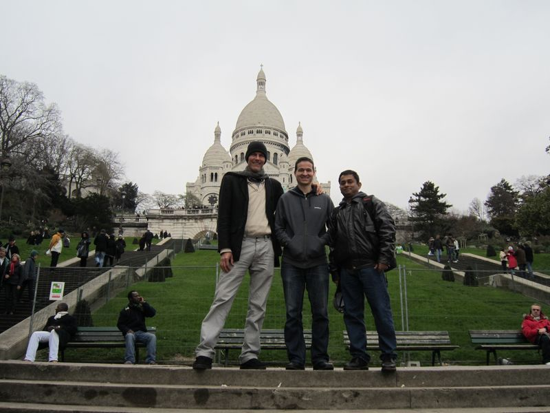 On Montmartre in front of Sacre Coeur