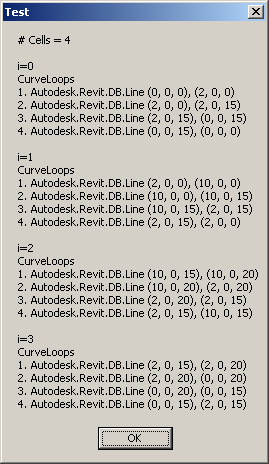 Cell curve loop coordinates using Foreach