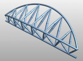 Curved truss