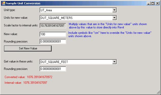 UnitConversion for Revit 2011