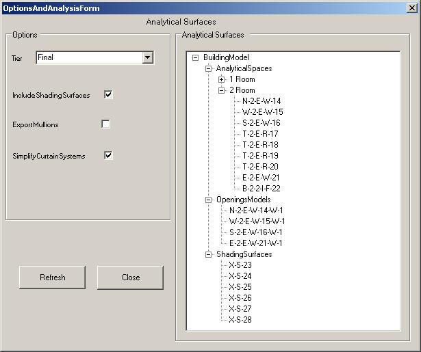 EnergyAnalysisModel SDK sample