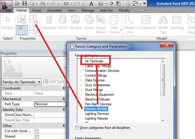 Changing the family document category