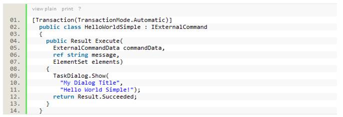 Formatted code