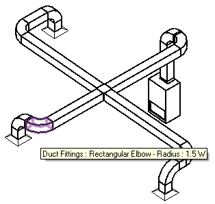 MEP placeholder elements converted to ductwork