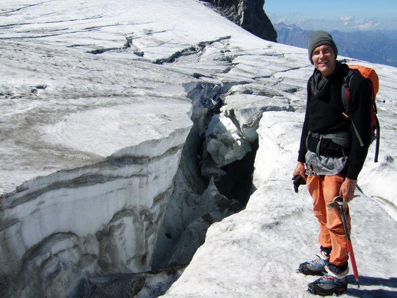 On the Chammlijoch glacier