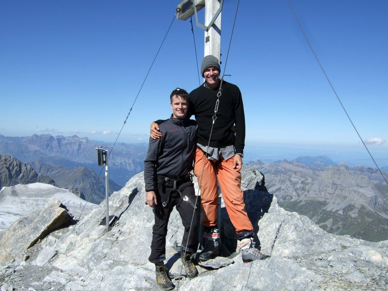 Martin and Jeremy on the Clariden summit