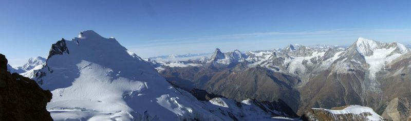 Nadelhorn summit panorama