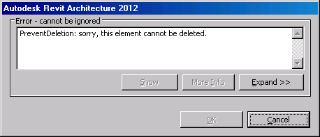 Prevent deletion error message