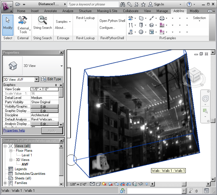 RevitWebcam in Revit 2012