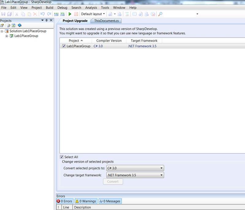 Set .NET Framework version