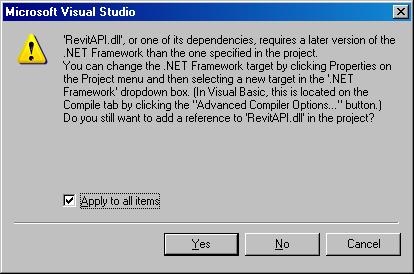 .NET Framework version update message