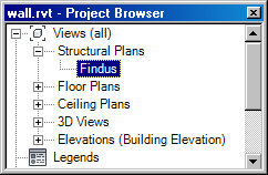 Structural plan in project browser