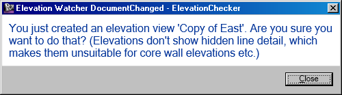 ElevationWatcher using DocumentChanged