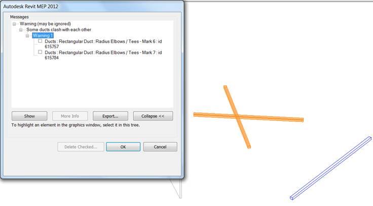 Collision test rule