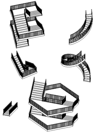 Programmatically generated stairs and railings