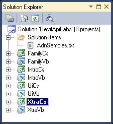 ADN Revit API Training labs including Xtra