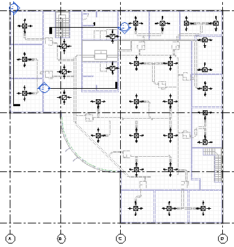 HVAC sample model plan view