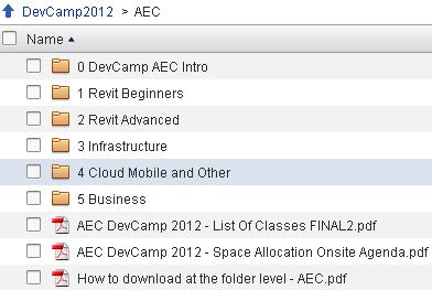 AEC DevCamp 2012 Material