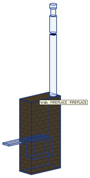 Basic sample model fireplace