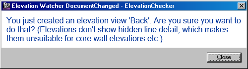 ElevationWatcher reacting to family load