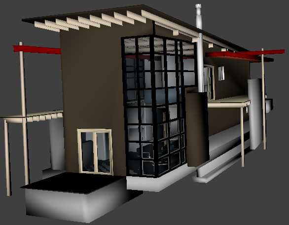 Sample model with transparency