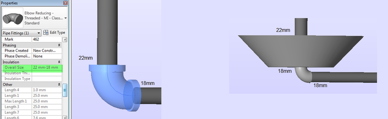 Reducer and trainsition elbow