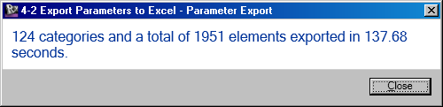 Export parameter values to Excel