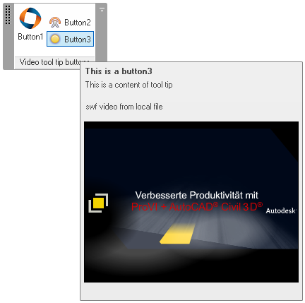 Video running in a Revit ribbon item tool tip