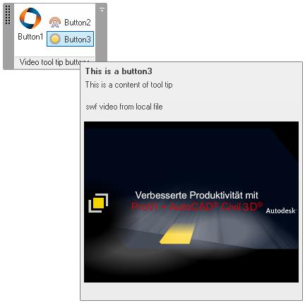 Video running in a Revit ribbon item tool tip